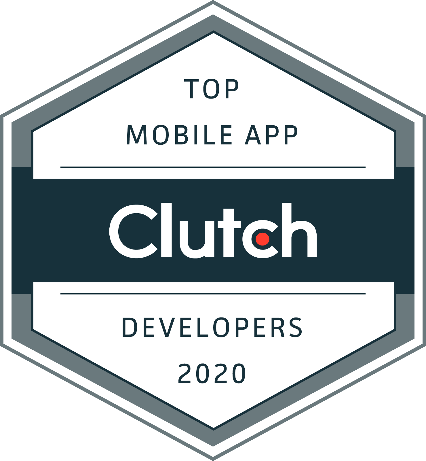 Clutch's Top Mobile App Developers 2020 badge