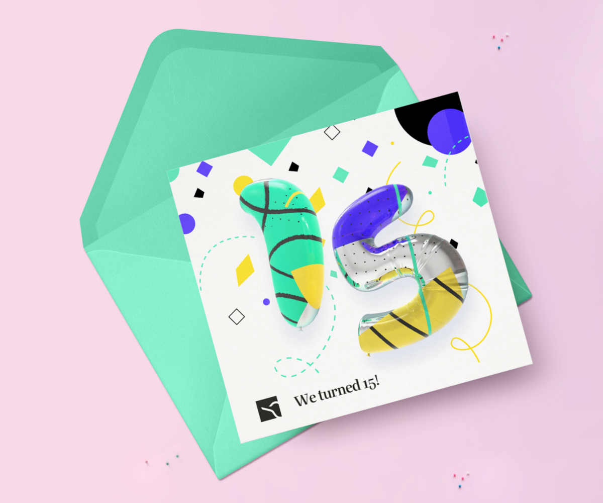 Halcyon Mobile branded birthday card