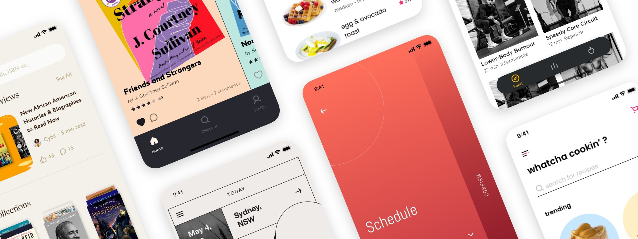 screens and examples of UI design challenges